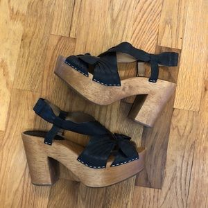 Anthropologie Miss Albright Bow Sandal - Size 7.5